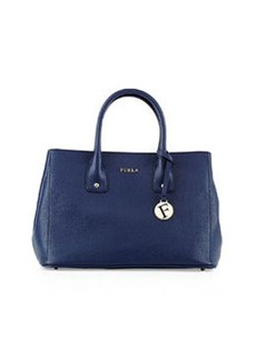 Furla Serena Small Leather Tote Bag, Navy