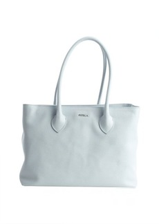Furla sky blue leather 'Martha' medium top handle satchel