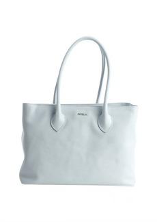 Furla sky blue leather 'Martha' medium top handle satchel