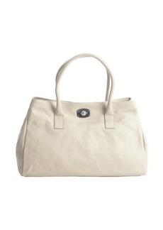 Furla stone grey leather 'Appaloosa' shoulder bag