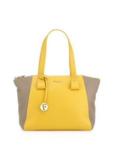Furla Tallin Colorblock Medium Leather Satchel Bag