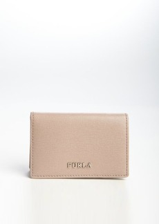 Furla taupe leather bussiness card case