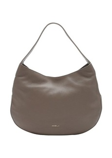 Furla taupe leather large 'Alida' hobo bag