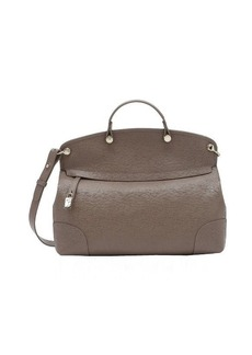 Furla taupe leather large 'Piper' top handle tote