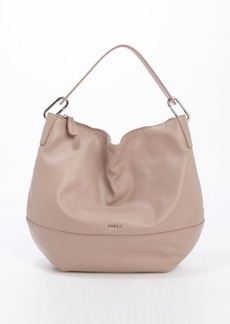 Furla taupe leather 'Manola' medium hobo bag