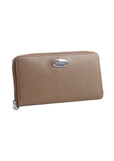 Furla taupe leather ziparound continental wallet
