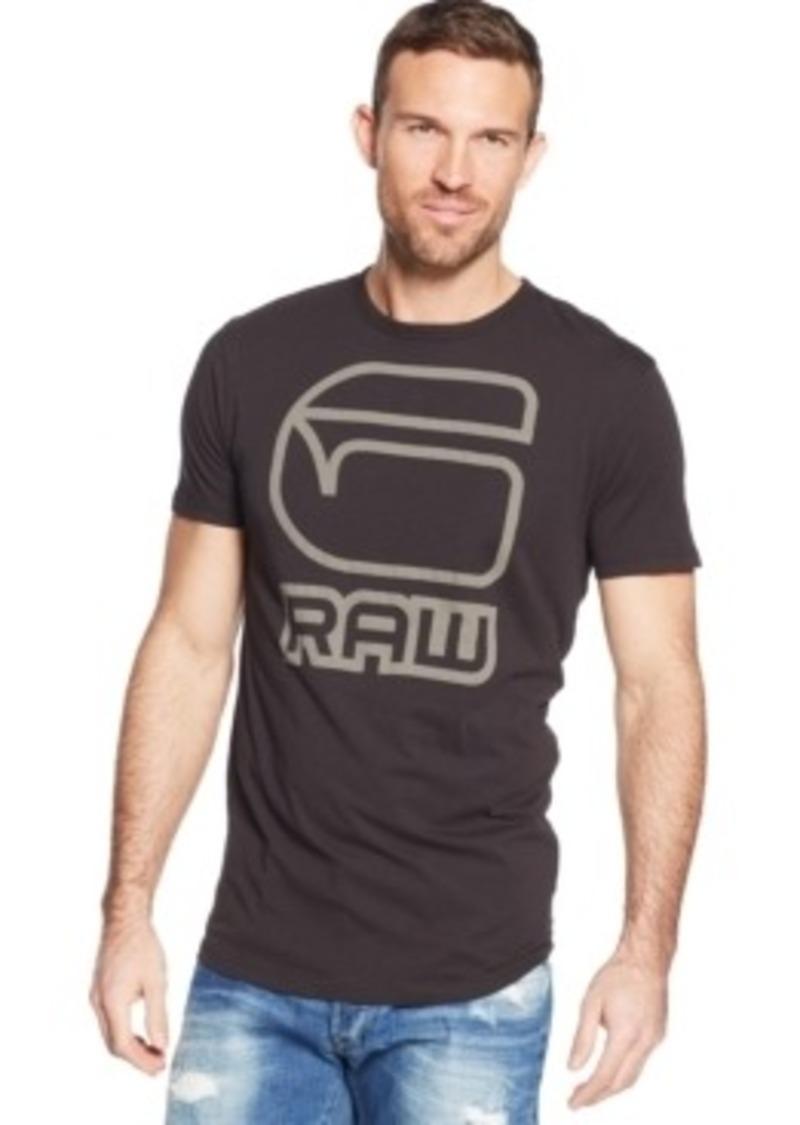 g star raw denim g star raw logo t shirt t shirts shop. Black Bedroom Furniture Sets. Home Design Ideas