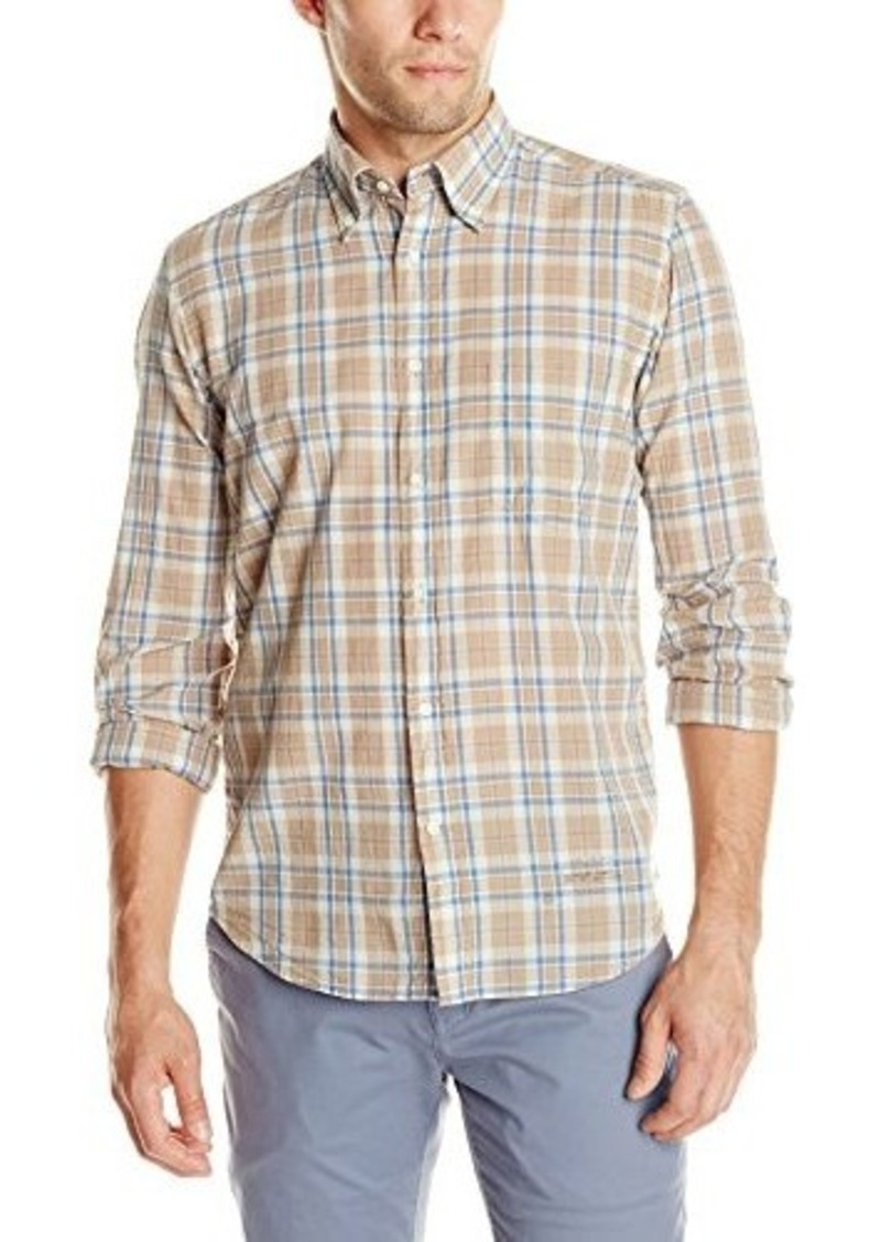 Gant rugger gant rugger men 39 s handloom madras shirt beige for Mens madras shirt sale