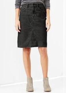 1969 A-line cord skirt