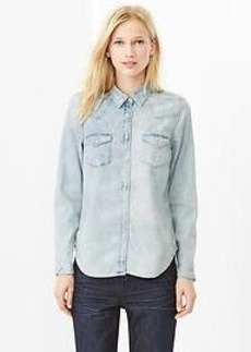 1969 faded western denim shirt