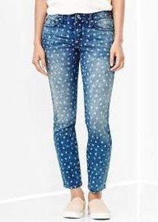1969 floral always skinny skimmer jeans
