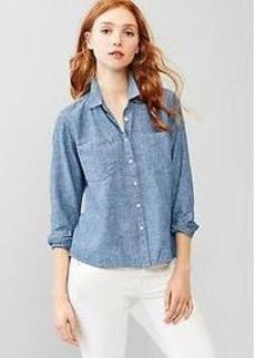 1969 linen denim shirt