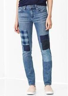 1969 patchwork always skinny jeans