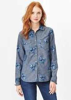 1969 rose western denim shirt
