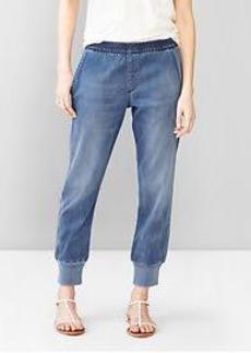 1969 sateen denim jogger pants