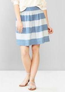 1969 stripe chambray skirt
