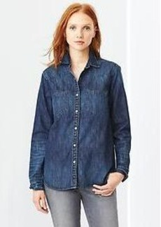 1969 western denim boyfriend shirt