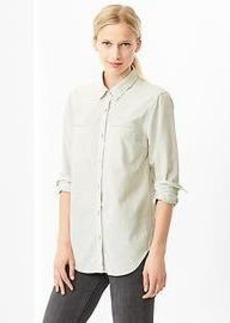 1969 western denim boyfriend shirt