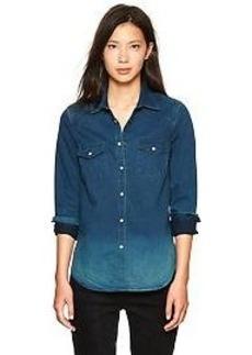 1969 western denim shirt