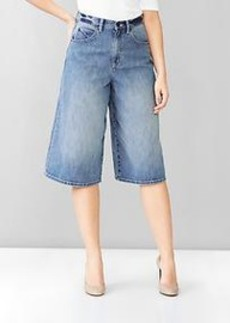 1969 wide-leg denim culottes