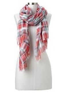 Americana plaid scarf