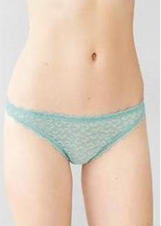 Animal-print lacy thong