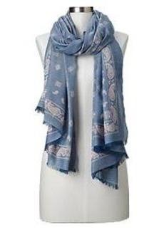 Bandana chambray scarf