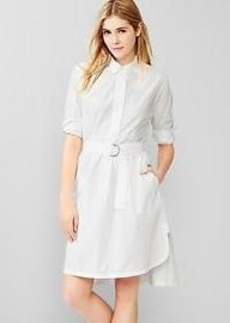 Belted shirttail dress