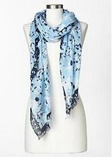 Border printed scarf