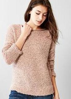 Boucle boatneck sweater