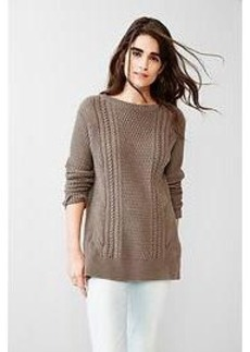 Boyfriend cable knit sweater