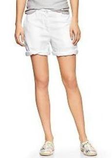 Boyfriend roll-up linen shorts