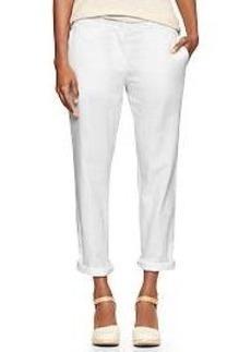 Broken-in straight linen pants
