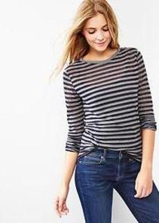 Burnout stripe tee