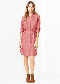 Chambray utility shirtdress