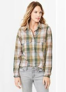 Checkered utility shirt