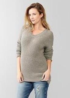 Circle hem tunic sweater