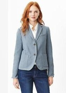 Classic basketweave wool blazer