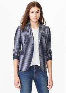 Classic stripe jacquard blazer