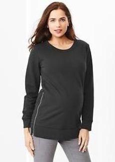 Cocoon side-zip sweatshirt tunic