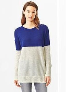 Colorblock long sweater