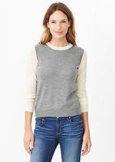 Colorblock merino sweater