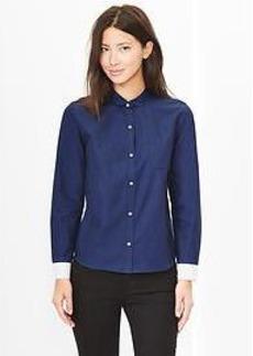 Colorblock peter pan oxford shirt