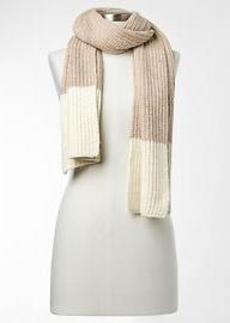 Colorblock ribbed scarf