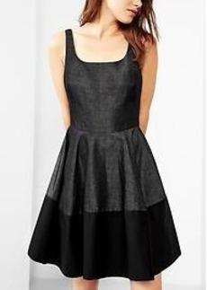 Colorblock tank fit & flare dress