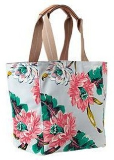 Colorful printed canvas tote