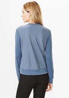 Contrast-back shrunken sweatshirt tee