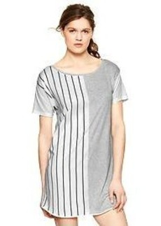 Contrast-stripe T-shirt dress
