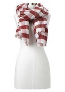 Cozy buffalo checkered scarf