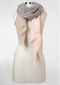 Cozy colorblock scarf